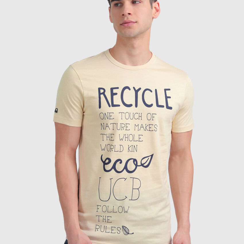 """Pure Cotton Tee Shirt with """"Recycle"""" Print"""