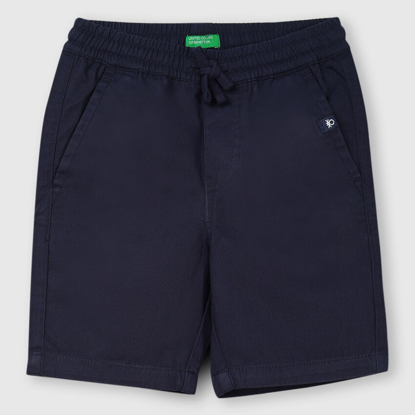 Cotton Elastic Waist Shorts