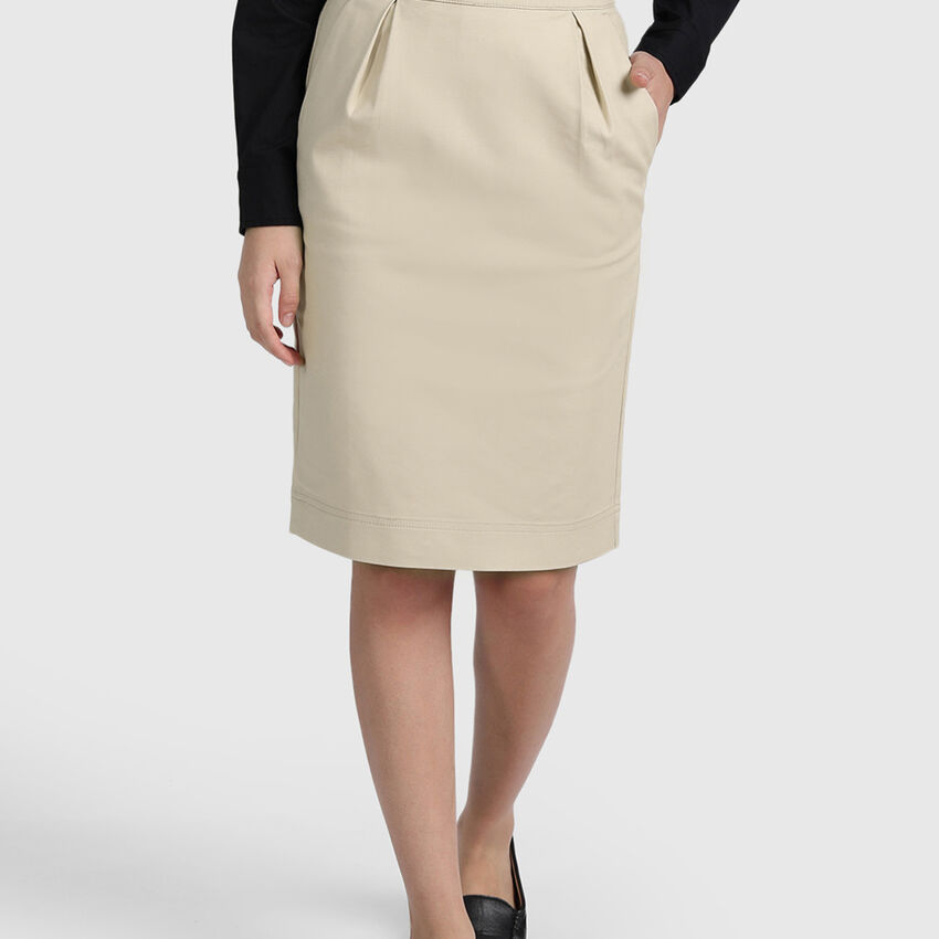 Cotton Lycra Pencil Skirt