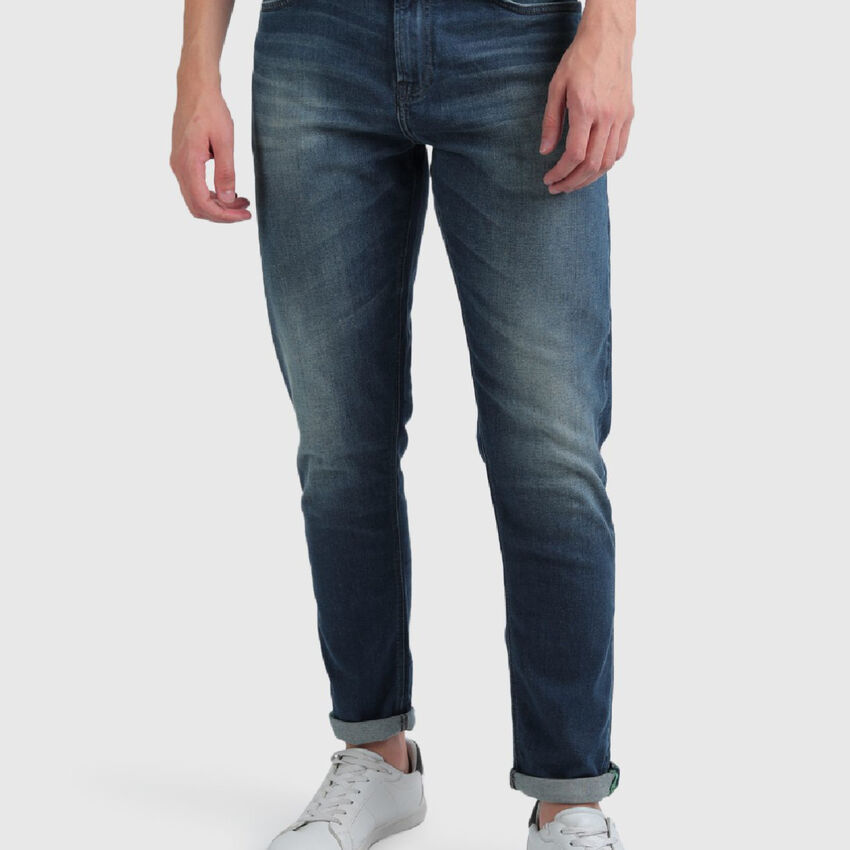 Mild Faded Cotton Jeans