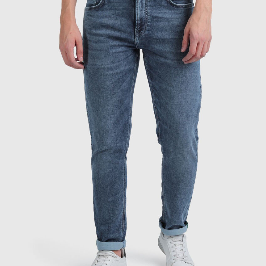 Slim Tapered Fit Cotton Jeans
