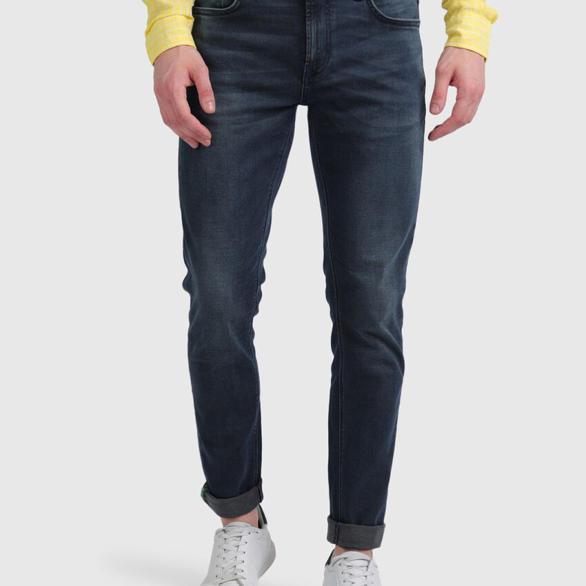 Cotton Washed Look Skinny Jeans