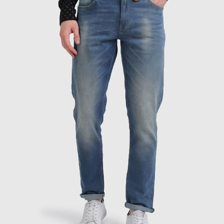 Cotton Aged Look Jeans