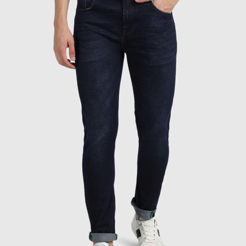 Carrot Fit Cotton Jeans