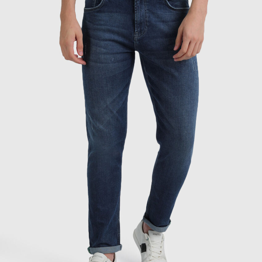 Cotton Slim Tapered Jeans