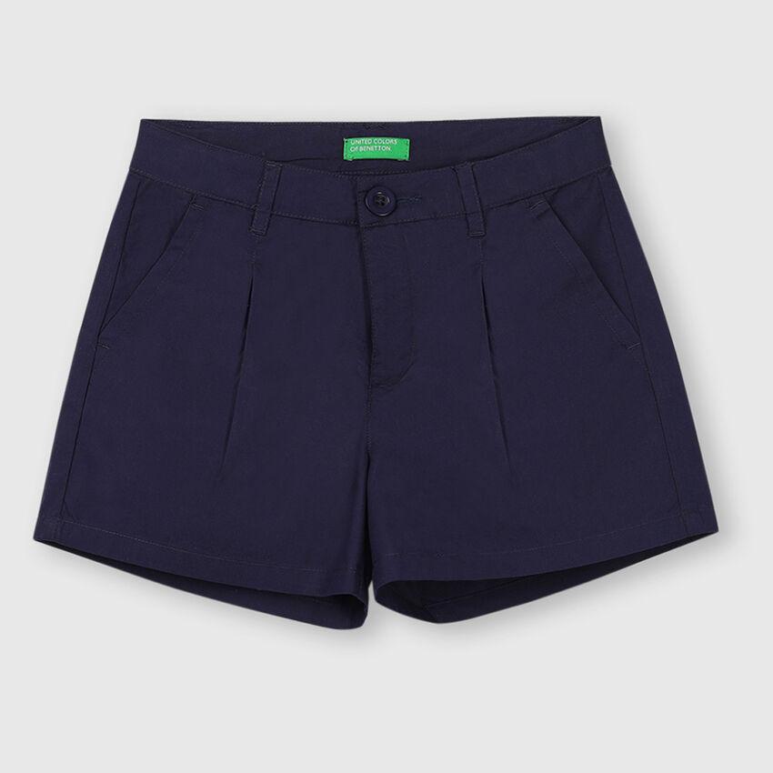 Pure Cotton Poplin Shorts