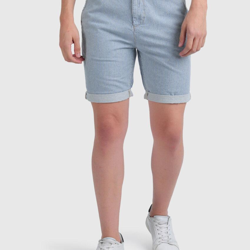 Indigo Striped Shorts