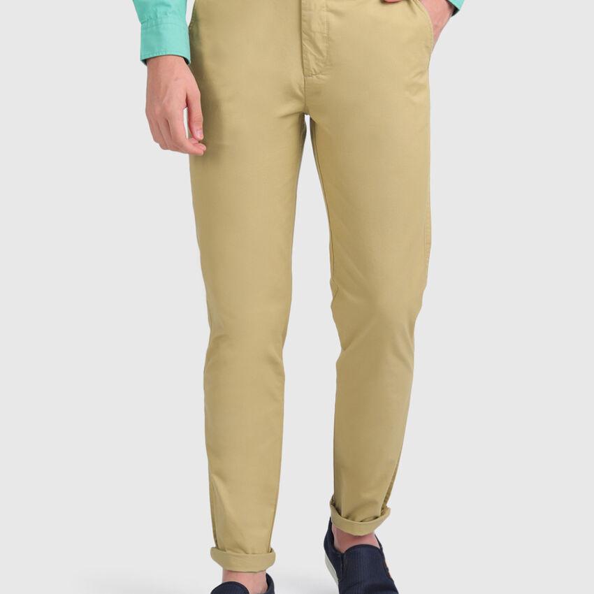 Cross Pocket Cotton Chinos