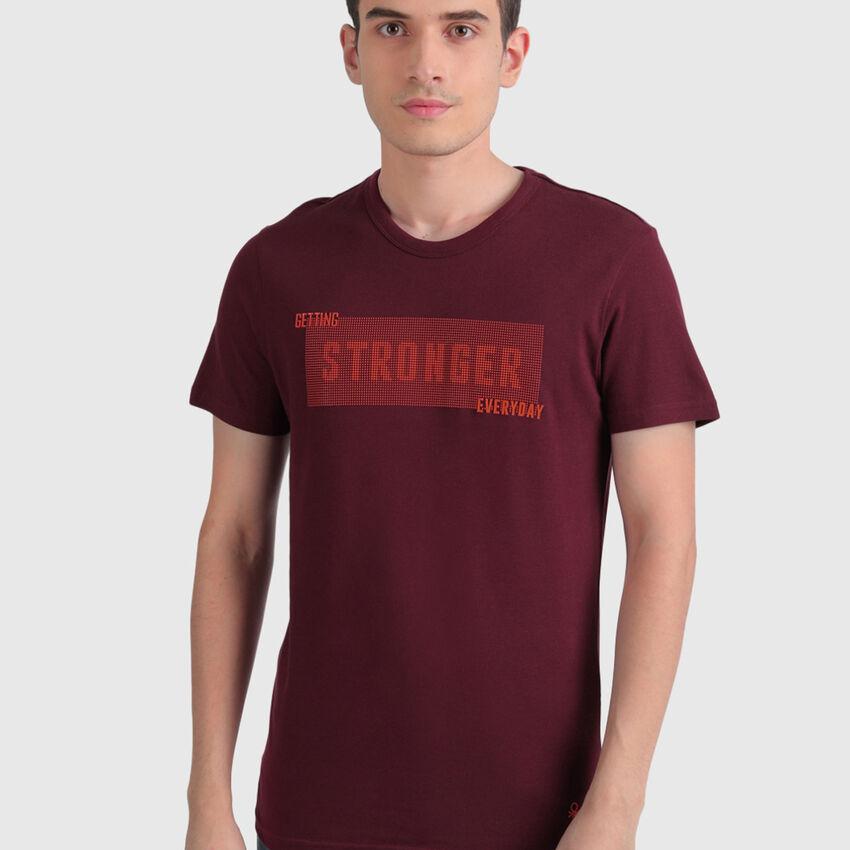 Pure Cotton Slogan Tee Shirt