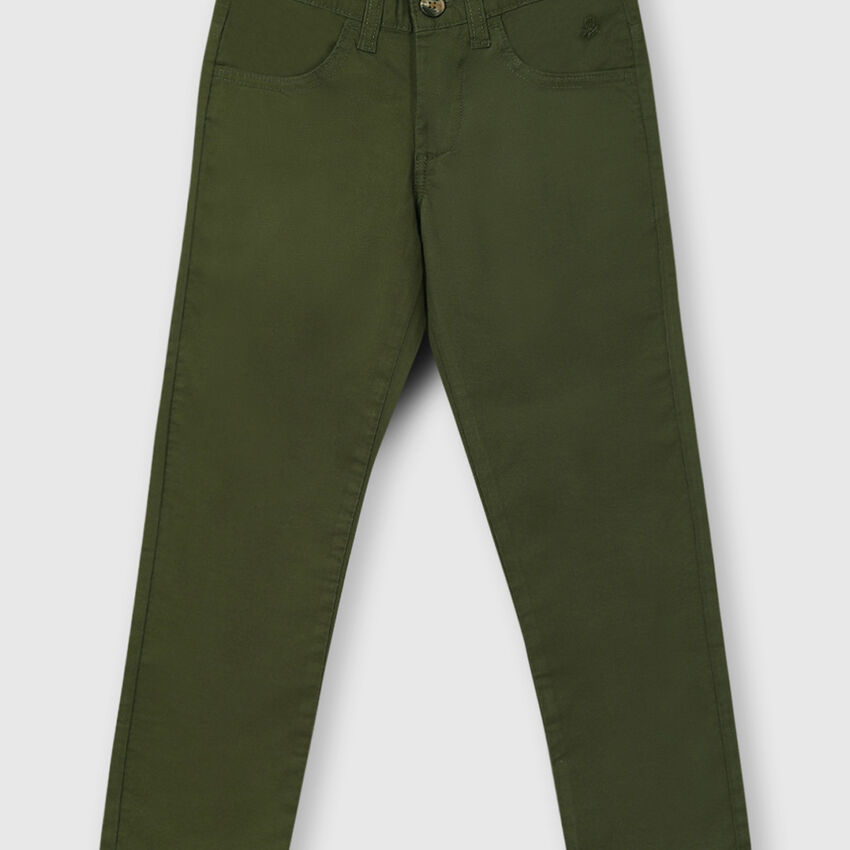 Slim Fit Trouser with Front Pockets