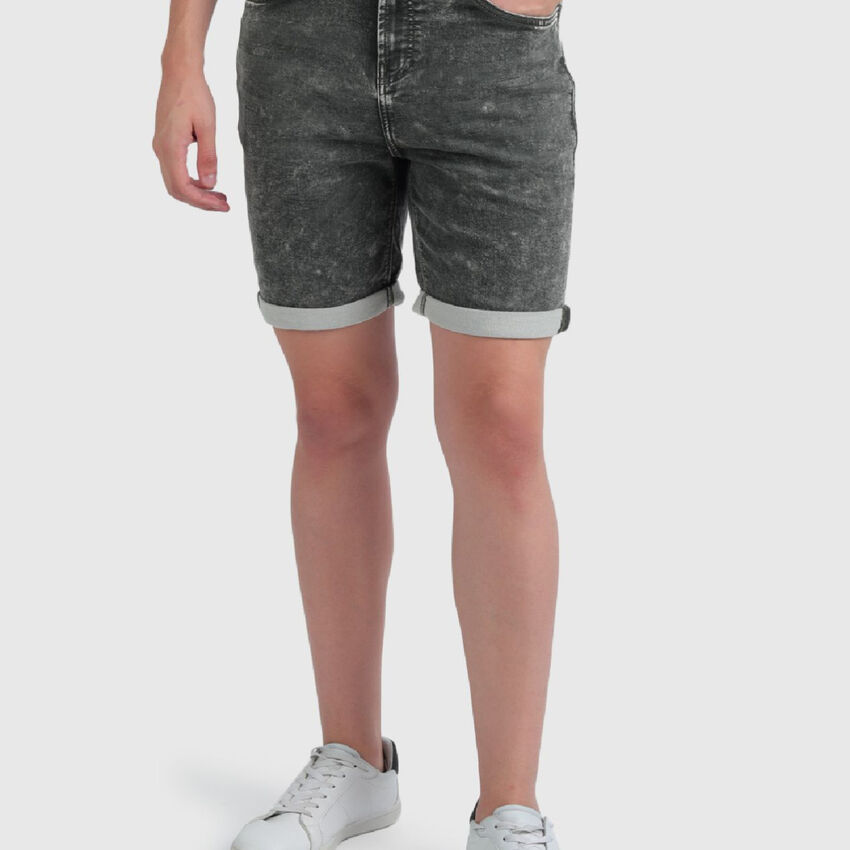 Slim Fit Washed-Out Look Shorts