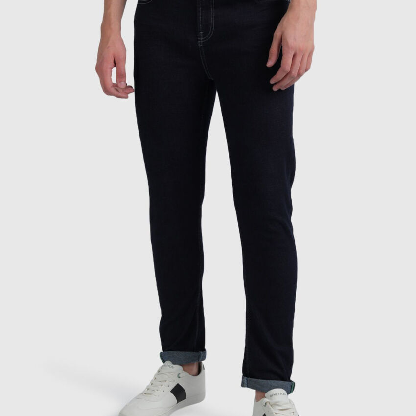 Cotton Carrot Fit Contrast Jeans