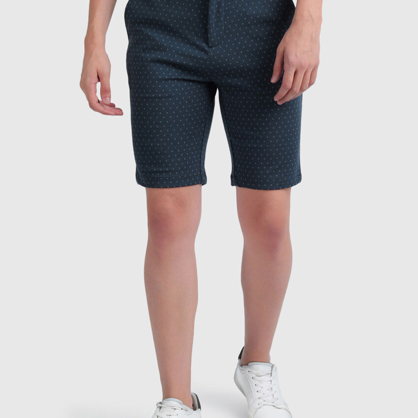 Slim Fit Shorts with Dotted Print