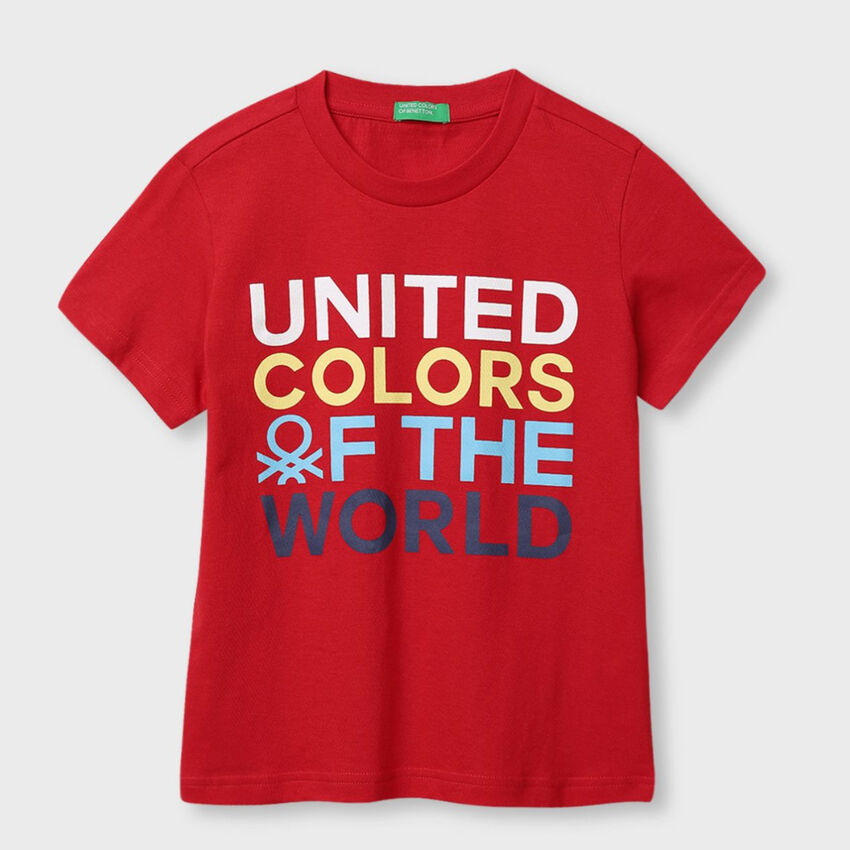 Pure Cotton Tee Shirt with Quote Print