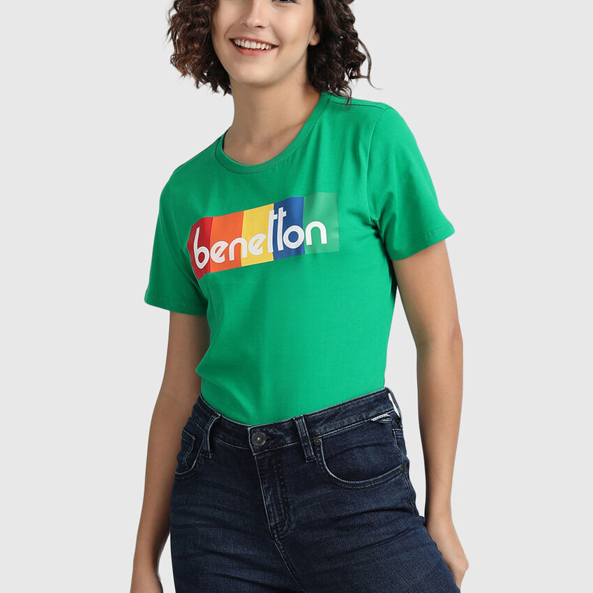 Pure Cotton Tee Shirt with Banner