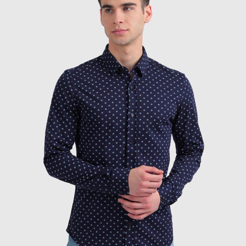 Cotton Printed Long Sleeve Shirt