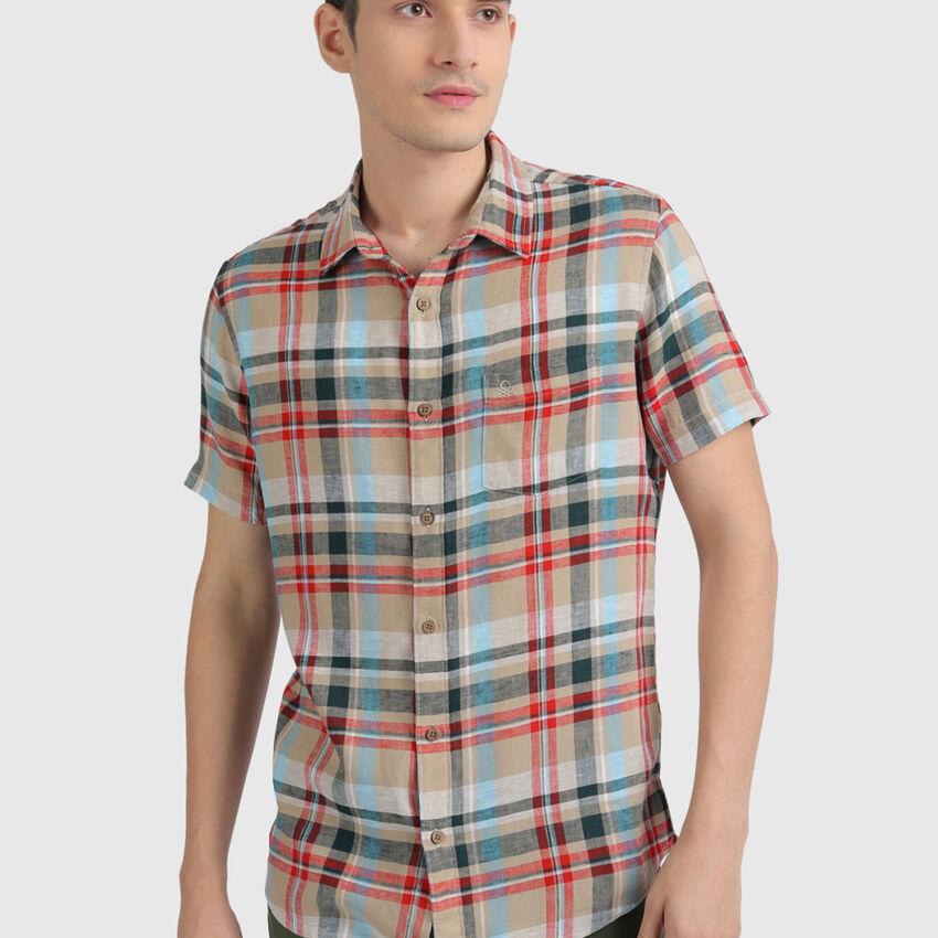 Lyocell Twill Checks Shirt