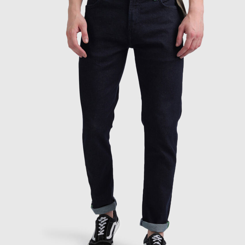Cotton Jeans with Detachable Pocket