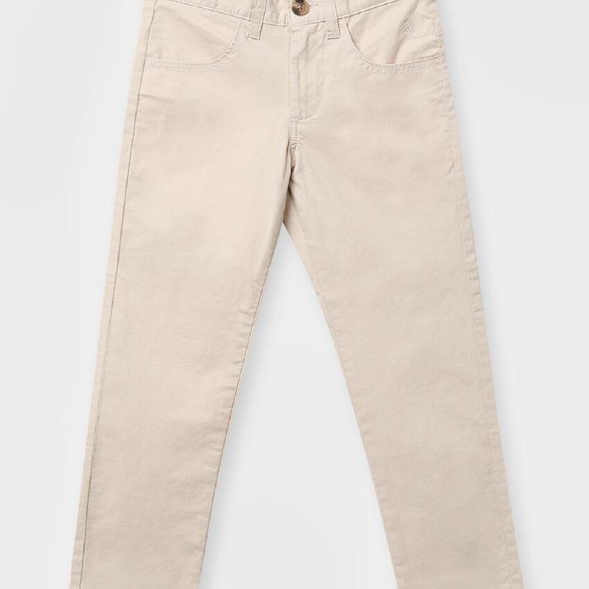 Cotton Slim Fit Trousers