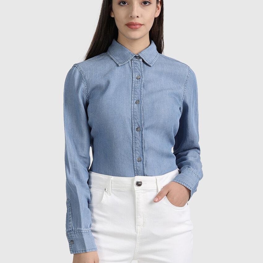 Lyocell Long Sleeve Denim Shirt