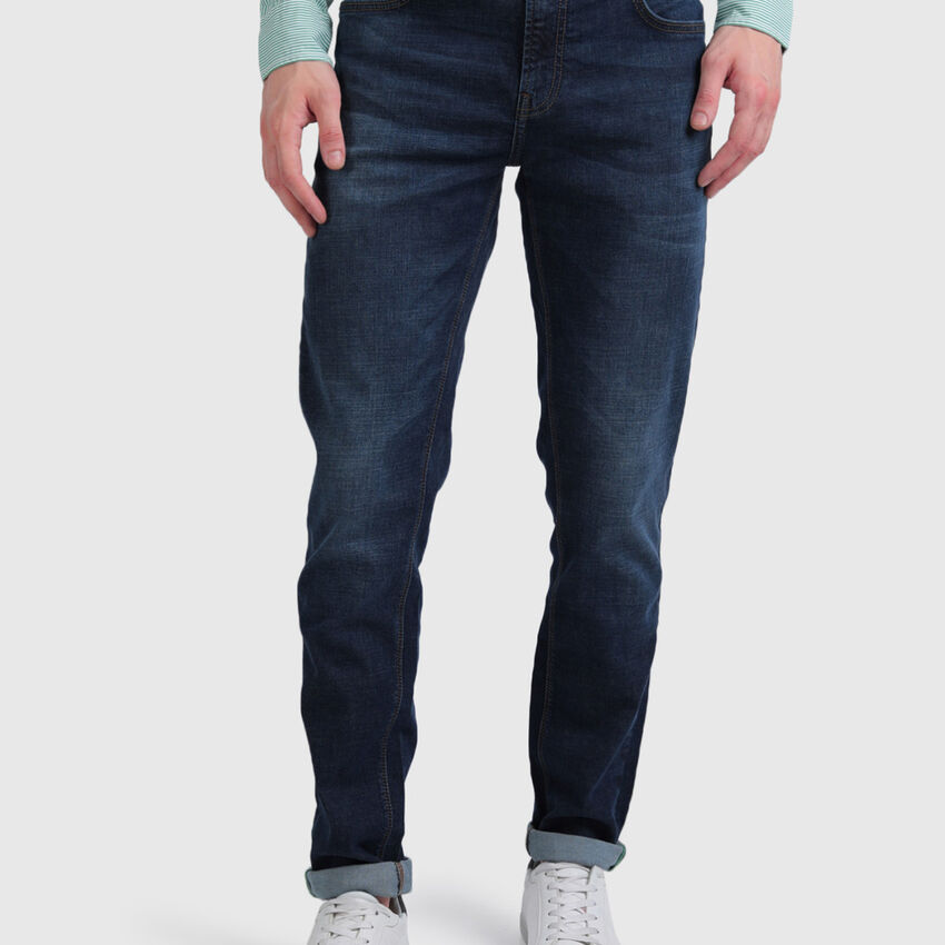 Cotton Mid Shade Washed Jeans