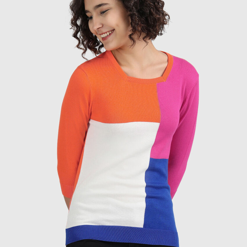 Pure Cotton Tricot Top with Square Neck