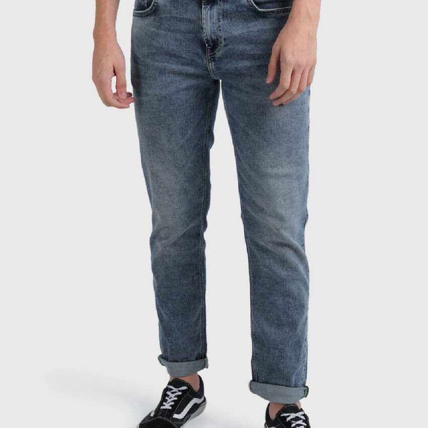 Slim Straight Fit Cotton Jeans