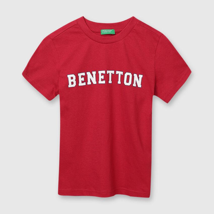 Cotton Tee Shirt with Benetton Print