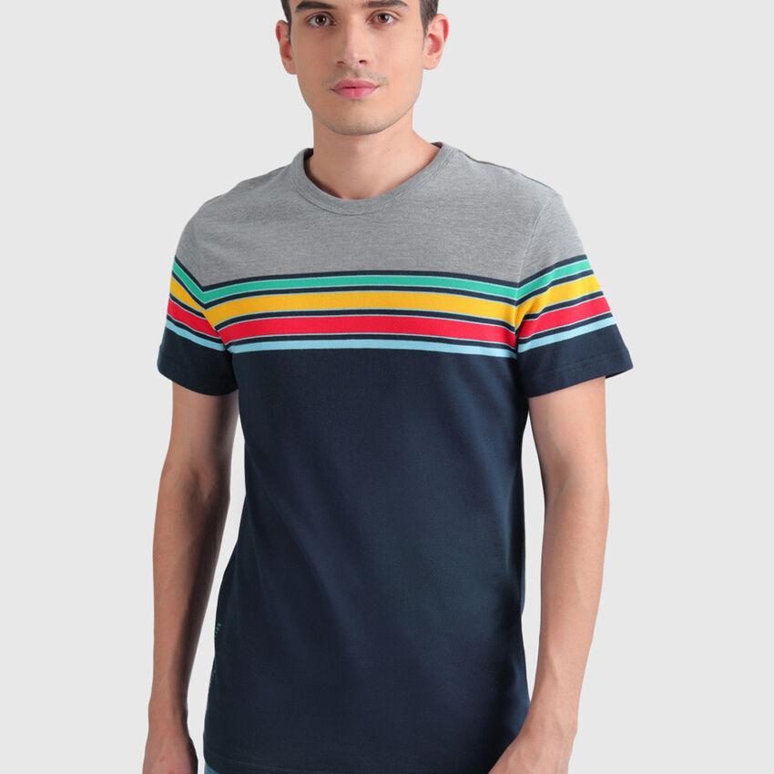 Cotton Striped Pique Tee Shirt