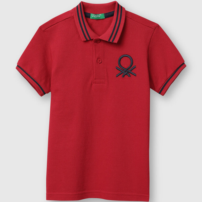 Solid Pique Polo Shirt with Tipping