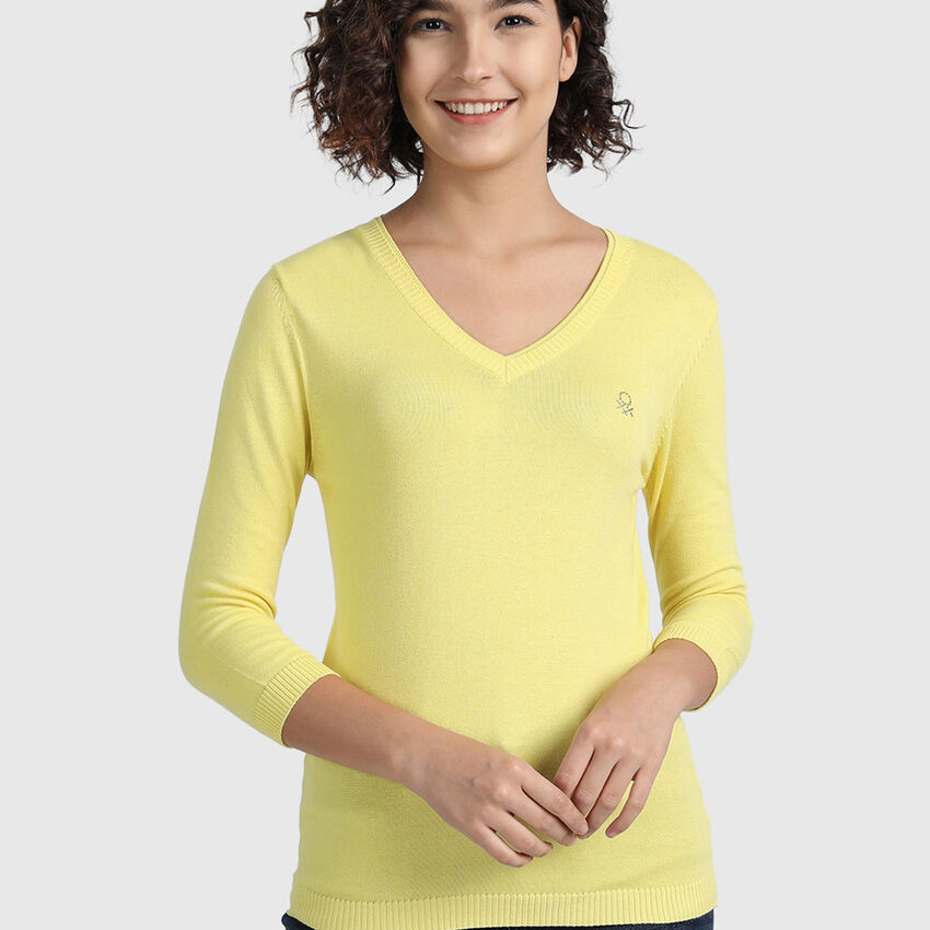 Pure Cotton Tricot Top in Solid Colour