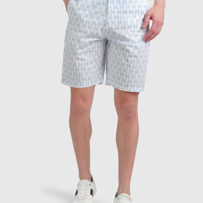 Cotton Broken Stripe Shorts