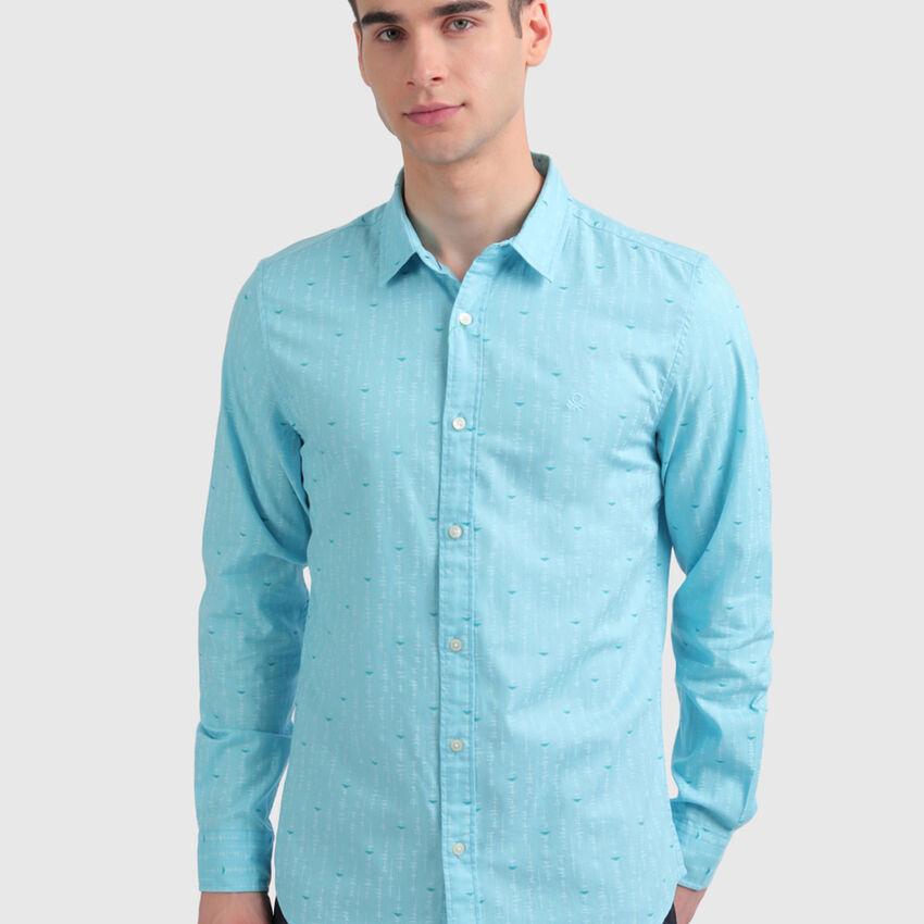 Pure Cotton Herringbone Shirt