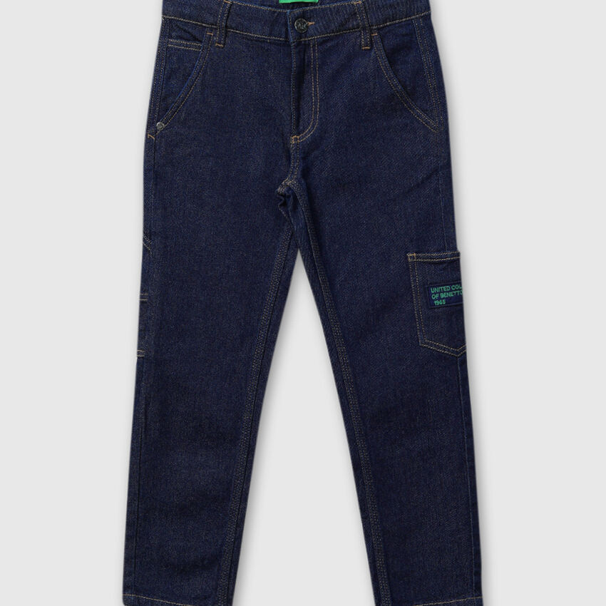 Solid Worker Fit Denims