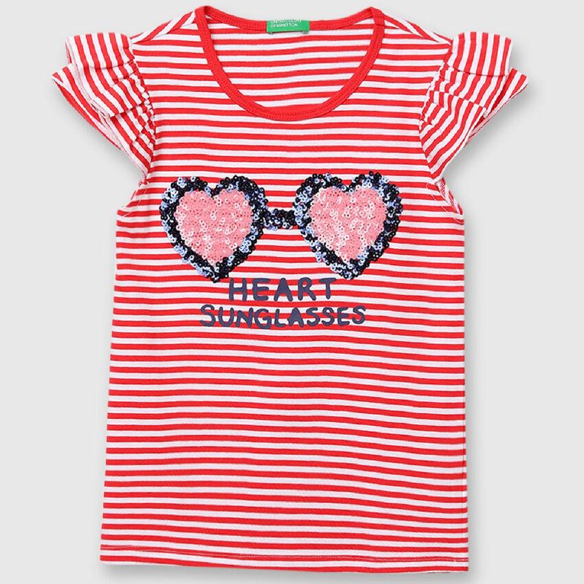 Pure Cotton Striped Tee Shirt