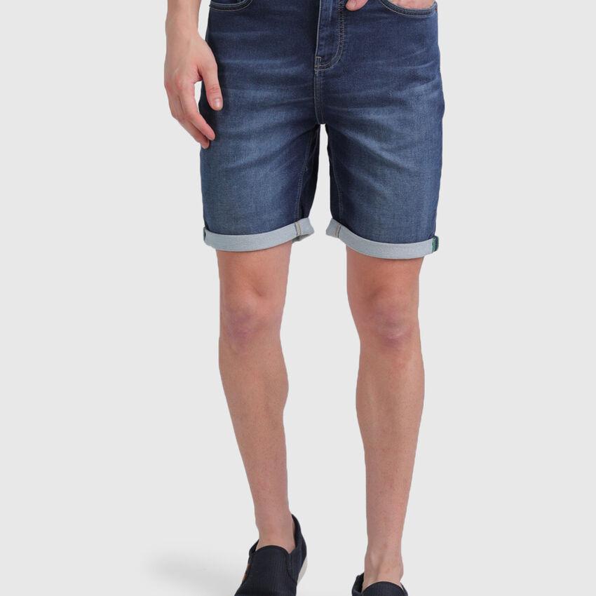 Cotton Slim Fit Denim Shorts
