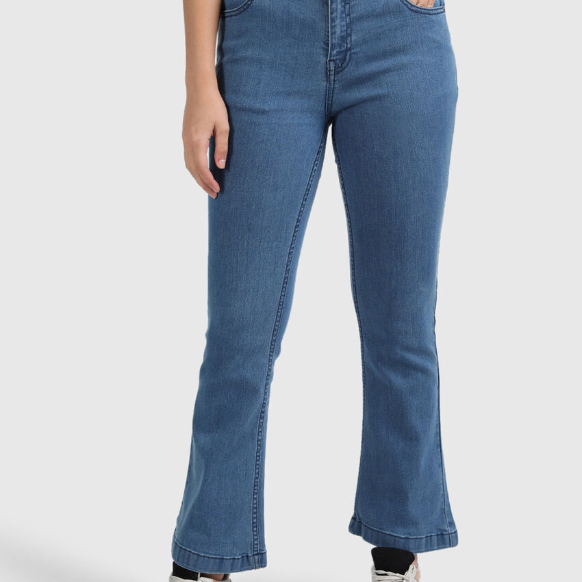 Cotton Jeans with Bootcut